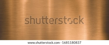 metal brushed bronze wide textured plate or plaque #1681180837