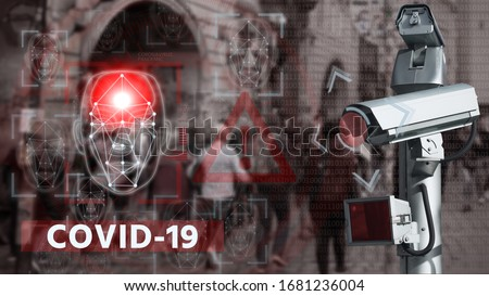 Camera with face recognition and thermal imager system to search for patients with coronavirus #1681236004
