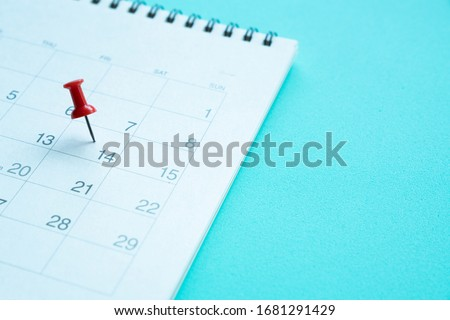 Close up of calendar and stethoscope for Covid-19, Corona Virus epidemic worldwide that people must do social distancing for 14 days concept