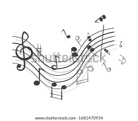 Abstract background with musical notes.
