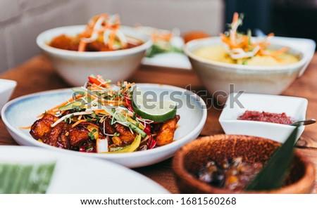 Freshly prepared Thai style gourmet cuisine #1681560268