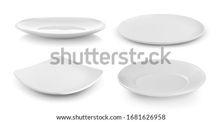 white plate isolated on white background Royalty-Free Stock Photo #1681626958