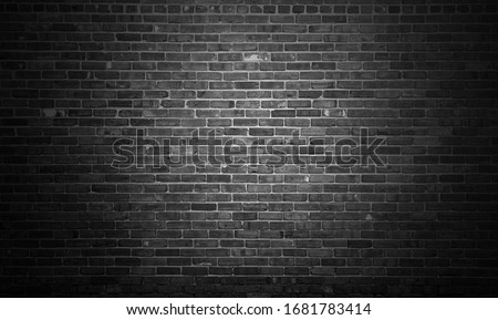 Black brick wall backgrounds, brick room, interior texture, wall background. #1681783414