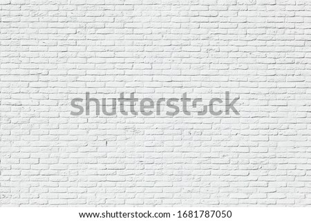 White brick wall backgrounds, brick room, interior texture, wall background. #1681787050