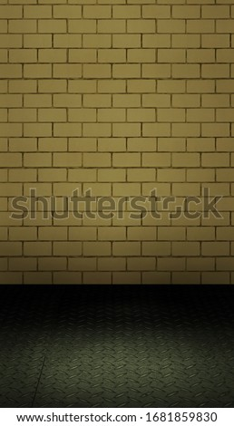 Brick wall backdrop with custom wooden floor in a portrait mode to use with your product or model photoshoot.