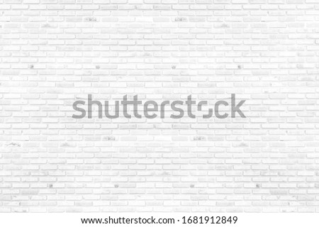 White brick walls that are not plastered background and texture. The texture of the brick is white. Background of empty brick basement wall. #1681912849