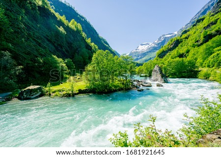 Beautiful Flam valley in Norway #1681921645
