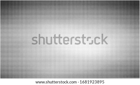 Halftone dotted background. Halftone effect pattern. Circle dots isolated on the white background. #1681923895