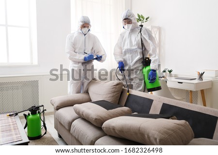 Home disinfection by cleaning service, surface treatment from coronavirus, steam disinfection #1682326498