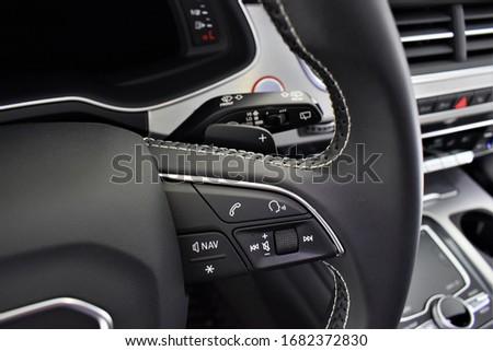 Audi SQ7 TDI quattro cockpit interior details  cabin #1682372830