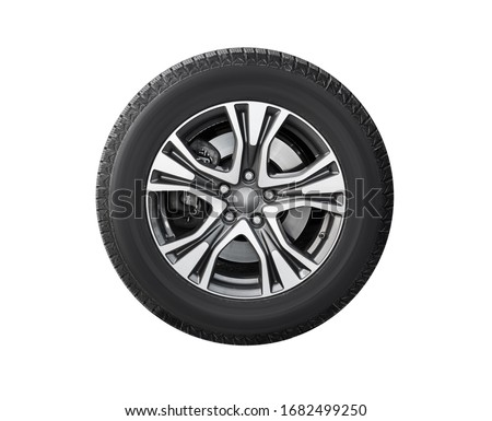New car wheel isolated on white background #1682499250