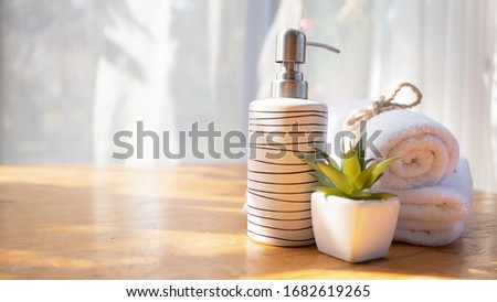 spa towels on white surface #1682619265