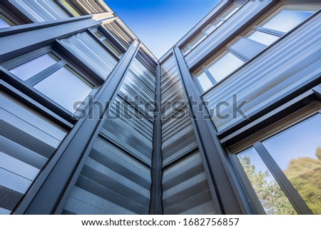 View from below architecture modern and sky #1682756857