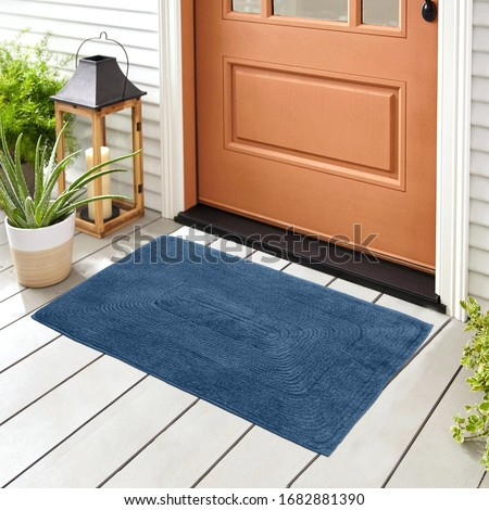 Classic & Beautiful Colorful Woolen & Cotton Doormat For home entrance and bathroom door mat For Interior Decoration Royalty-Free Stock Photo #1682881390