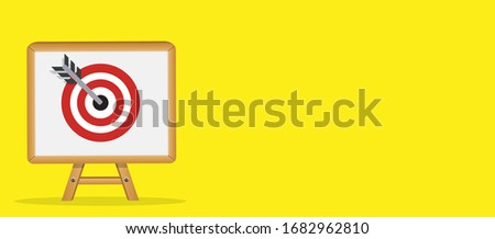 Concept of business target marketing Icon. Tactics of advertising targeting. Vector Illustration.  EPS10 #1682962810