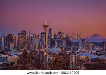 The View of a Beautiful city, Seattle