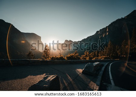watching sunrise in yosemite Valley California