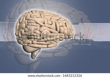 3d illustration of Brain background