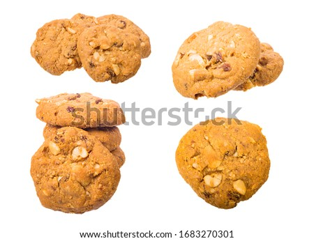Homemade Oatmeal Raisin Cookies on a white background #1683270301