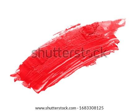 Sample of bright lipstick on white background #1683308125