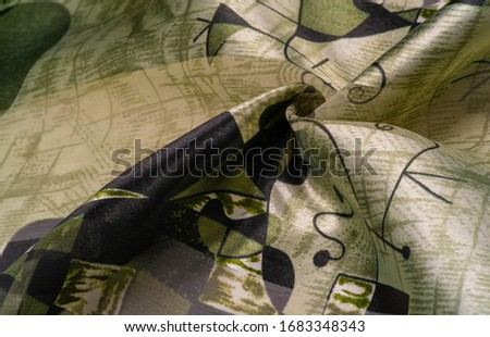Background texture Universal georgette with a silk print, drawing cartoon people, your projects will be the best, creativity knows no bounds! dare to be the best #1683348343