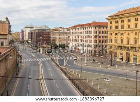 Following the coronavirus outbreak, the italian Government has decided for a massive curfew, leaving even the Old Town totally deserted. Here in particular an empty street #1683396727