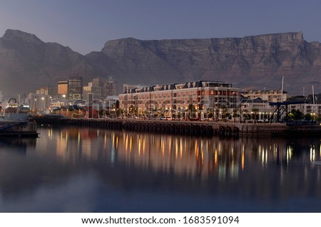 Waterfront With Table Mountain Backdrop Royalty-Free Stock Photo #1683591094