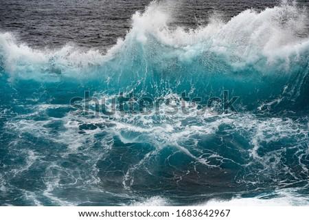 Wave crashing in ocean splash   Royalty-Free Stock Photo #1683642967