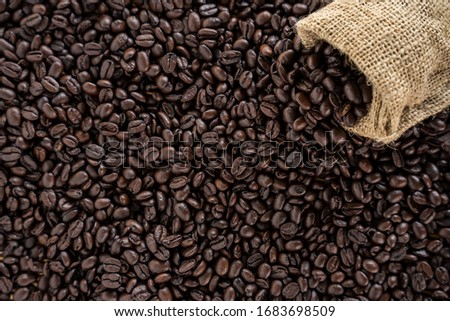 Roasted coffee beans for background #1683698509