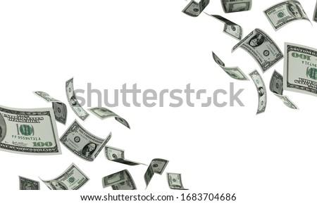 Many paper american dollar money