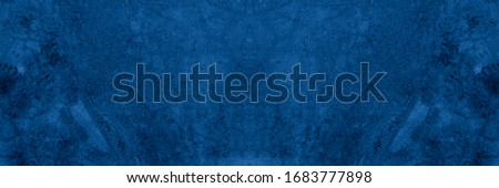Old wall pattern texture cement blue dark abstract  blue color design are light with black gradient background. #1683777898
