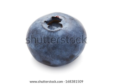 Fresh blueberry or bilberry  isolated on white background #168381509
