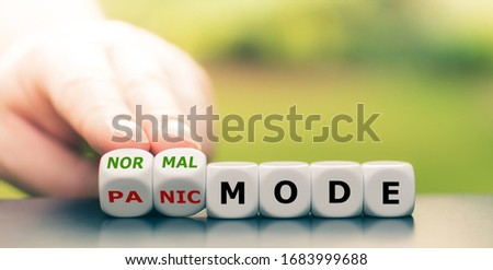 """Back to normal. Hand turns dice and changes the expression """"panic mode"""" to """"normal mode"""". #1683999688"""