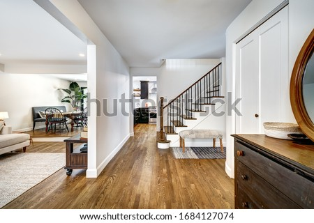 Full set of Canadian House in Greater Montreal area with interior and exterior representing true Canadian life style in lovely homey environment #1684127074