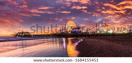 Los Angeles Santa Monica pier California  Royalty-Free Stock Photo #1684155451