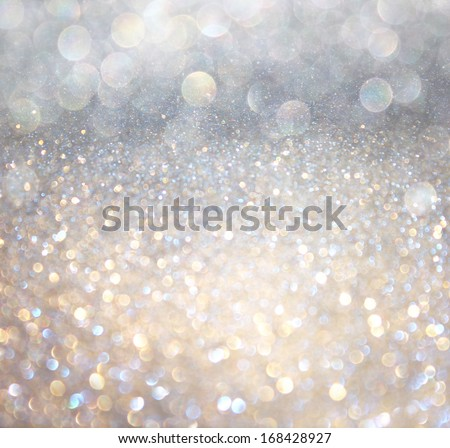 white and silver abstract  bokeh lights. defocused background