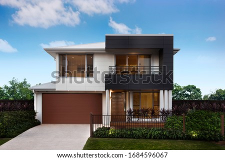 Modern and luxurious two storey villa with garage. #1684596067