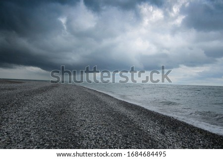 Black sea before the storm