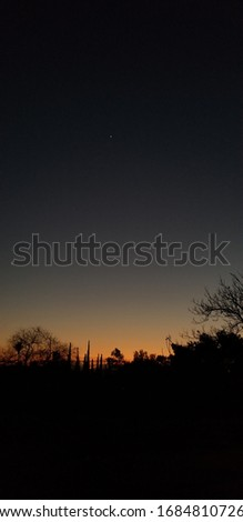 Sunset picture with Venus overhead.