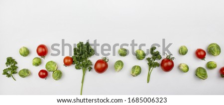 Homegrown vegetables. Fresh organic vegetables. Vegetables from the garden. Colorful vegetable. Healthy vegetable. Spaghetti, lapasta. A variety of vegetables. isolate. Banner. Copyspace #1685006323