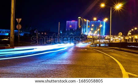 long exposure on Shchelkovsky highway in Moscow low light 25.03.2020 #1685058805