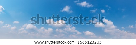 Air clouds in the blue sky.Blue backdrop in the air. Abstract style for text, design, fashion, agencies, websites, bloggers, publications, online marketers, brand, pattern, model, animation,  #1685123203