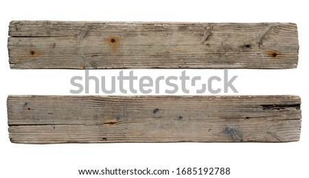 old wooden sign board background. plank wood isolated for design art work or add text message. Royalty-Free Stock Photo #1685192788