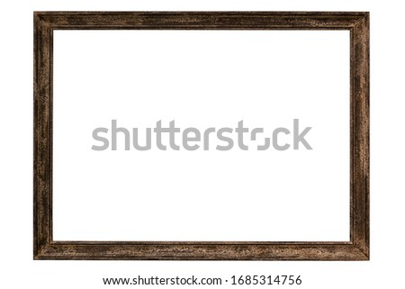 isolated frame of painting on white background