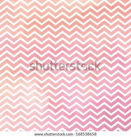 Pink and Orange Watercolor Chevron Background