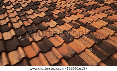 the roof of the house is made of printed land and then burned #1685516137