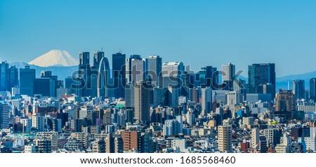 Mt. Fuji and Tokyo's skyscrapers