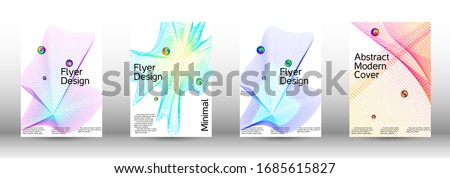 Minimum coverage of a vector. Cover design. Set of modern abstract musical backgrounds. Sound flyer for creating a fashionable  cover, banner, poster, booklet. #1685615827