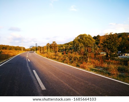 Road and nature in a  sunny day #1685664103