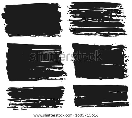 Ink brush strokes, Set of paint spots. hand made design. vector #1685715616